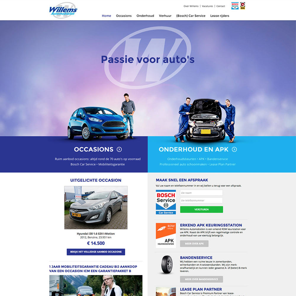 Willems automobielen Dronten - Mobiele website