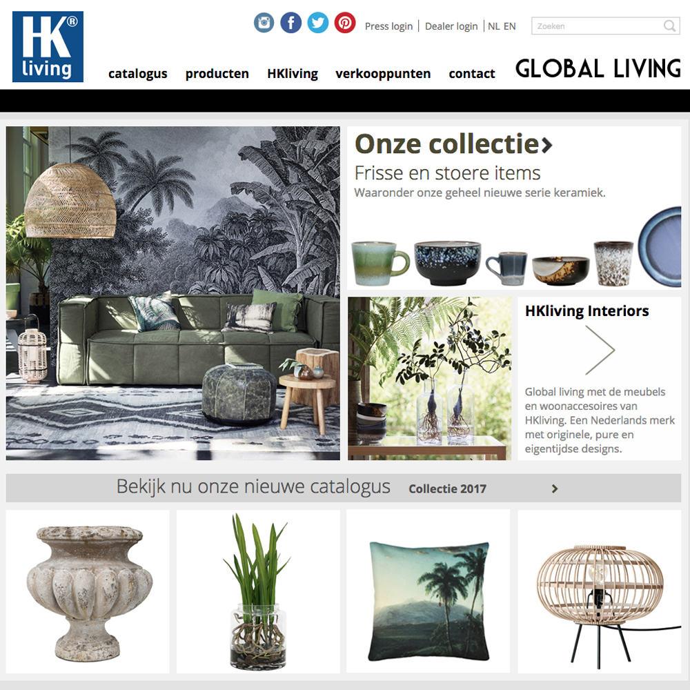 HK living - B2B Webshop met Exact Online
