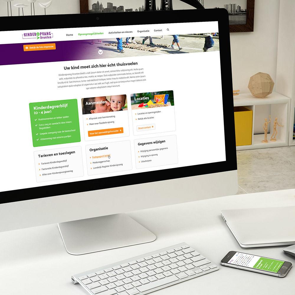 Kinderopvang Dronten - Webdesign & realisatie responsive website