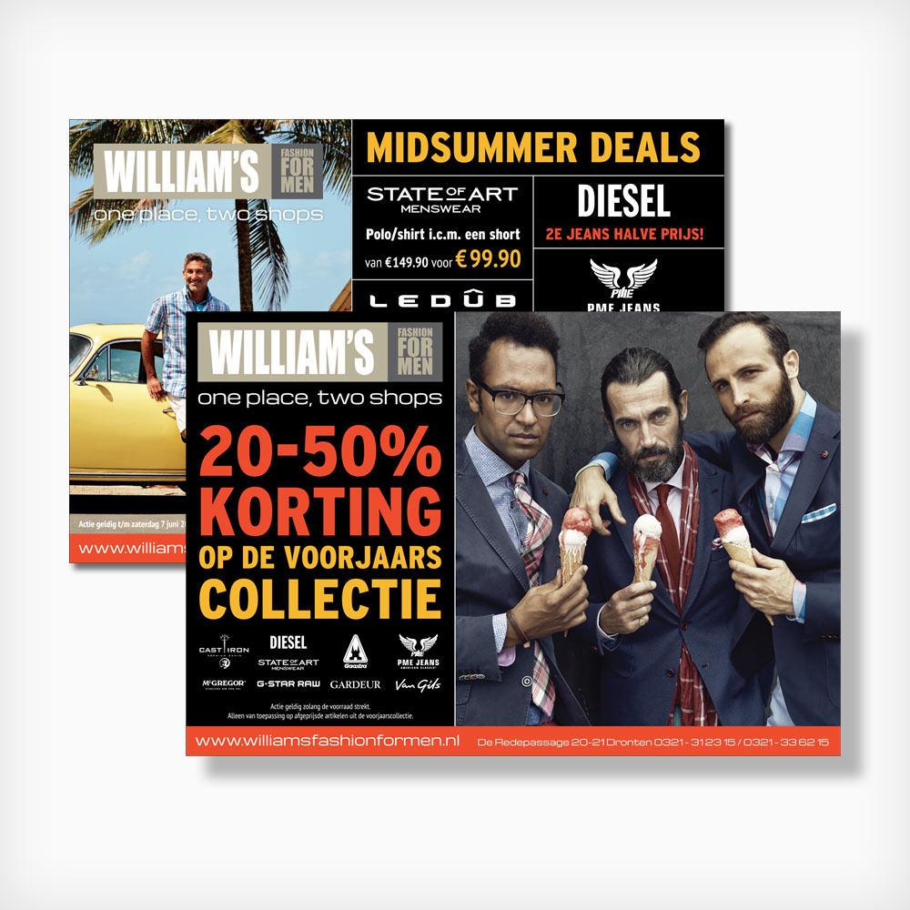 William's Fashion for men - Marketing campagne