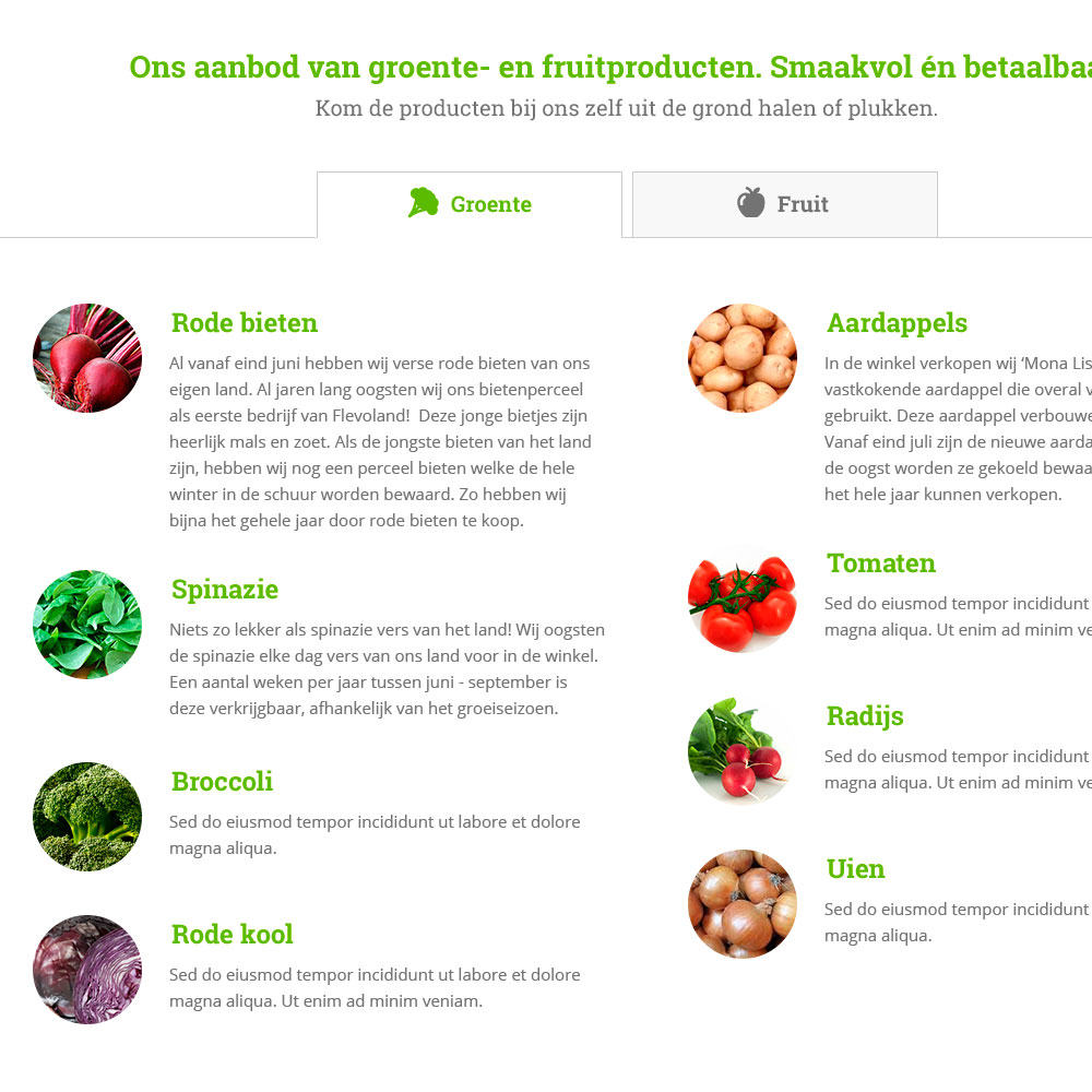 Bio Erf17 - Implementatie responsive website