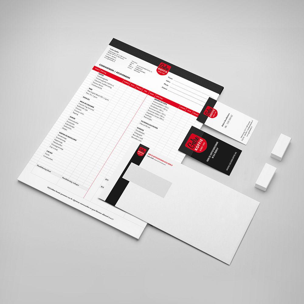 Gelre koffie - Design divers drukwerk