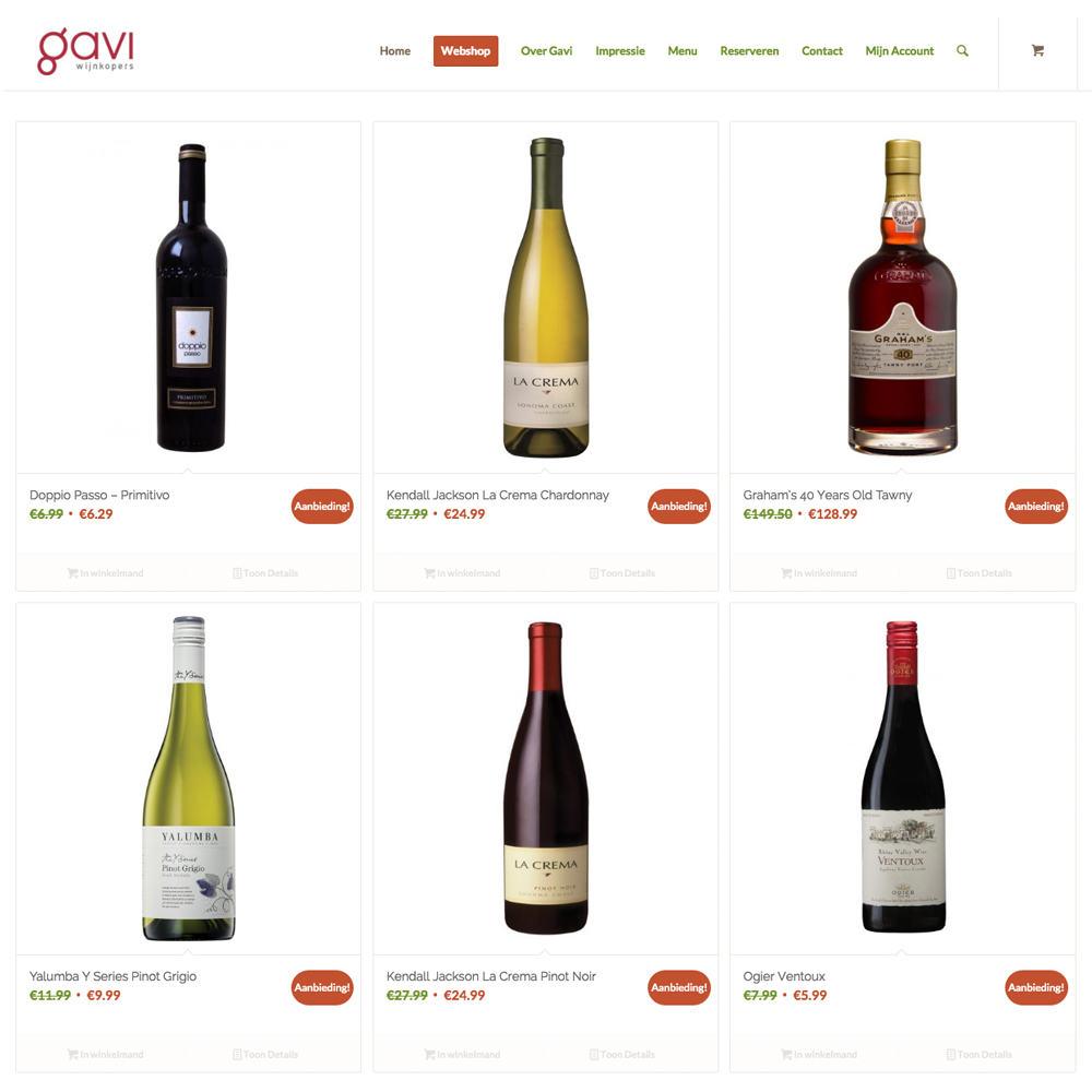 Gavi wijnkopers Dronten - Responsive WordPress & WooCommerce webshop